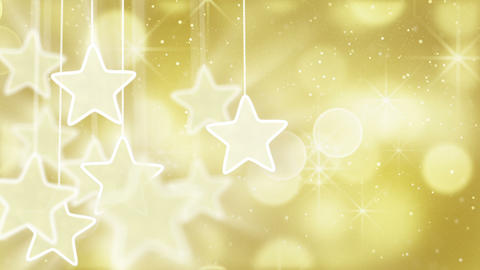 gold stars and bokeh lights loop background Stock Video Footage