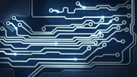 blue circuit board providing signals loop hi-tech Stock Video Footage