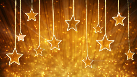 gold stars and particles loop background Stock Video Footage