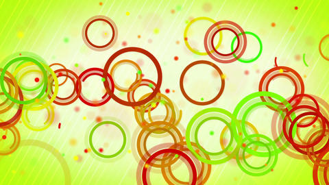 circles lines green red loop background Stock Video Footage