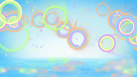 multicolored circles and particles loop Animation
