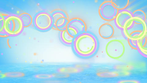 multicolored circles and particles loop Stock Video Footage