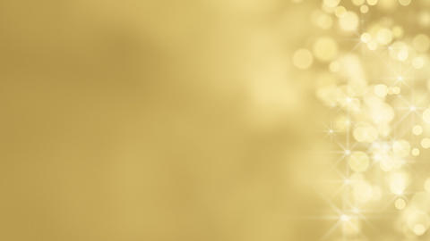 loopable abstract background gold bokeh circles Stock Video Footage