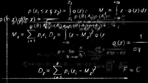 math physics formulas black and white loopable Stock Video Footage