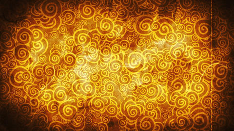 orange curles ornatment and noise loop background Animation