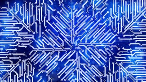 blue growing circuit board Stock Video Footage