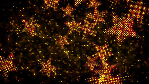glittering stars and lights loop holiday backgroun Stock Video Footage