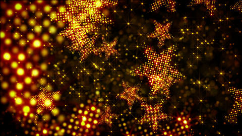 glittering stars and lights loop holiday backgroun Animation