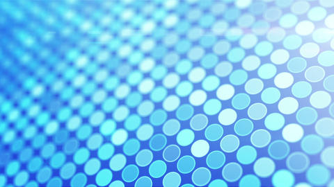 blue glowing circles loop flying camera Animation