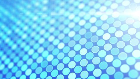 blue glowing circles loop flying camera Stock Video Footage