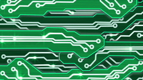 green electronic circuit plates alpha Stock Video Footage