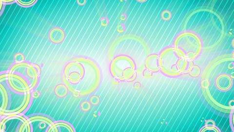 multicolored circles on cyan background loop Animation