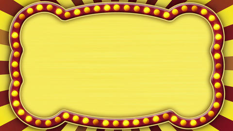 flash light gold marquee loop Animation