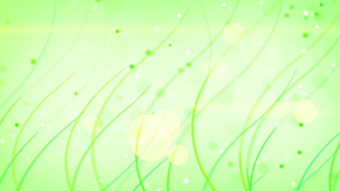 green curves and circles abstract background loop Stock Video Footage