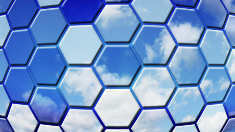clouds reflected in cells loopable background Stock Video Footage