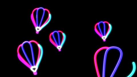neon balloon Stock Video Footage