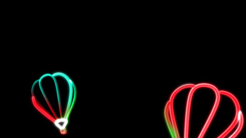 neon balloon color Animation
