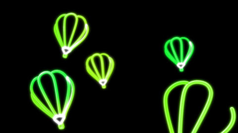 neon balloon color Stock Video Footage