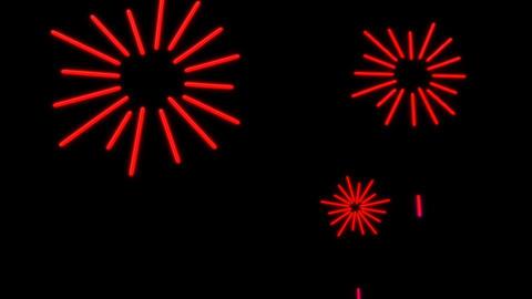 neon firework Stock Video Footage