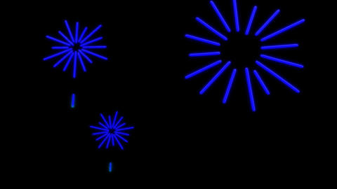 neon firework Animation
