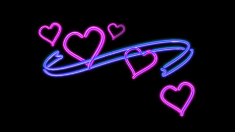 neon heart color Animation