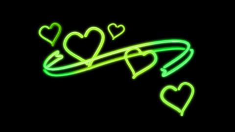 neon heart color loop Stock Video Footage