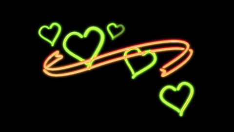 neon heart color random Stock Video Footage