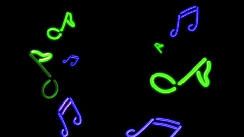 neon Music green blue Stock Video Footage