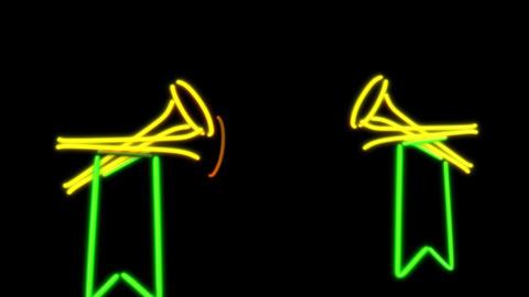 neon speaker Stock Video Footage