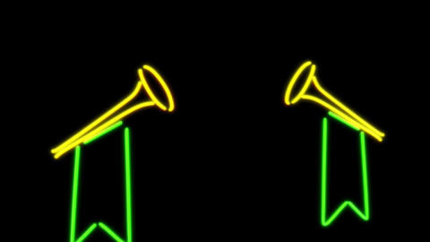 neon speaker Animation