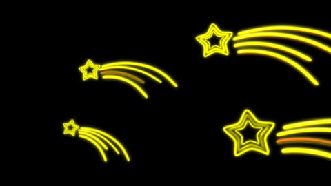 Neon Star Tail stock footage