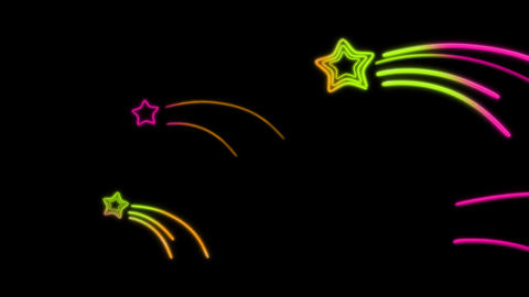 neon star tail color random Stock Video Footage