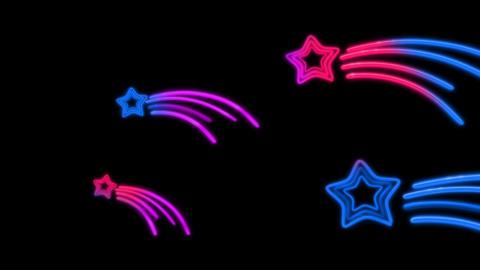 neon star tail color random Stock Video Footage