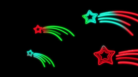 Neon Star Tail Color Random stock footage