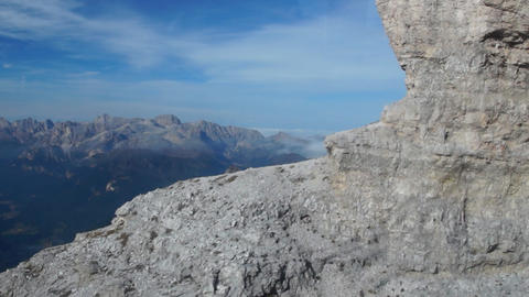 Lifting up in Italian Alps, Dolomites Stock Video Footage