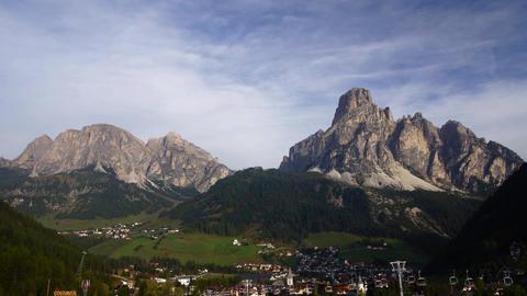 Village in Italian Alps, Dolomites Stock Video Footage