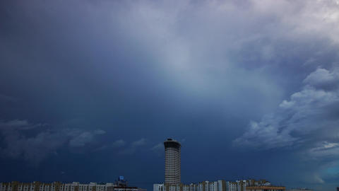 Strom clouds in city Stock Video Footage