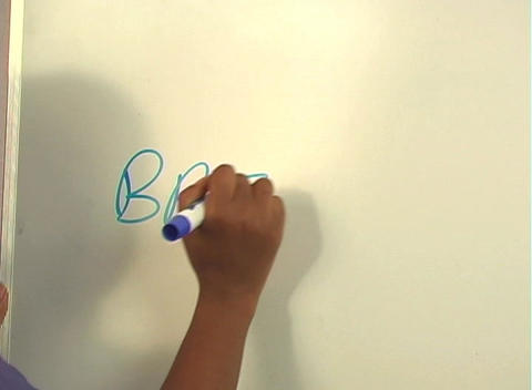 "Beautiful Nurse Writes ""Breast Implants"" on a White Board... Stock Video Footage"
