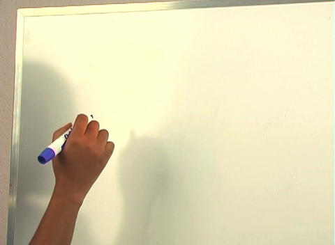 "Beautiful Nurse Writes ""D&C"" on a White Board (close-up) Stock Video Footage"