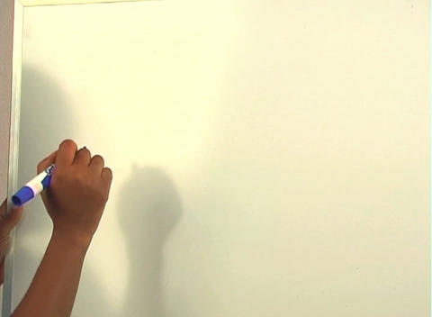 "Beautiful Nurse Writes ""Hysterectomy"" on a White Board... Stock Video Footage"