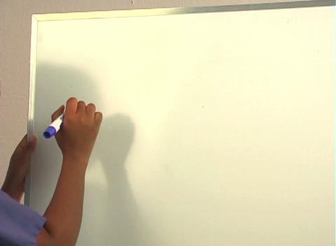 "Beautiful Nurse Writes ""Tonsillectomy"" on a White Board... Stock Video Footage"