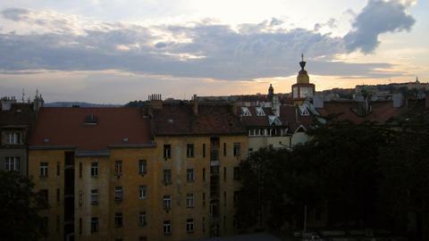 Prague sunset Stock Video Footage