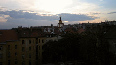 Prague sunset Footage