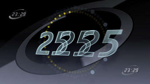 CountDown Number A2 b HD Stock Video Footage