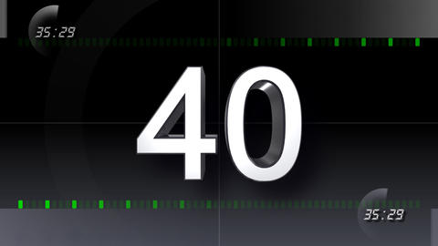 CountDown Number BB b HD Stock Video Footage