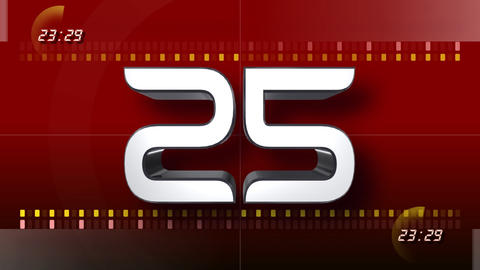 CountDown Number CC b HD Stock Video Footage