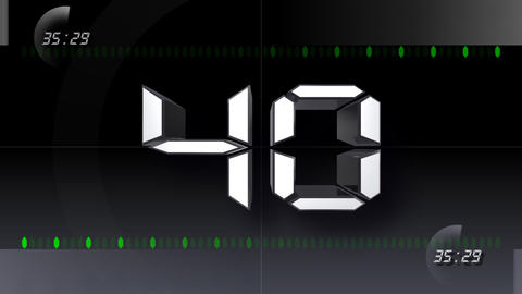 CountDown Number DD b HD Stock Video Footage