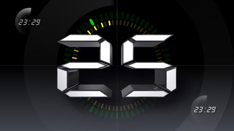 CountDown Number D b HD Stock Video Footage
