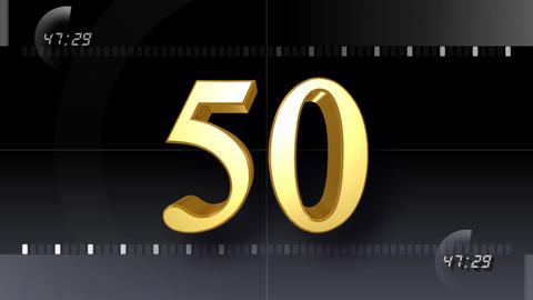 CountDown Number EE b HD Stock Video Footage