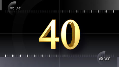 CountDown Number EE b HD Stock Video Footage